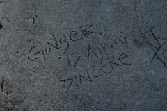 Ginger is Always Sincere (Generik11) Tags: sf graffiti cement foundinsf sfist gwsf
