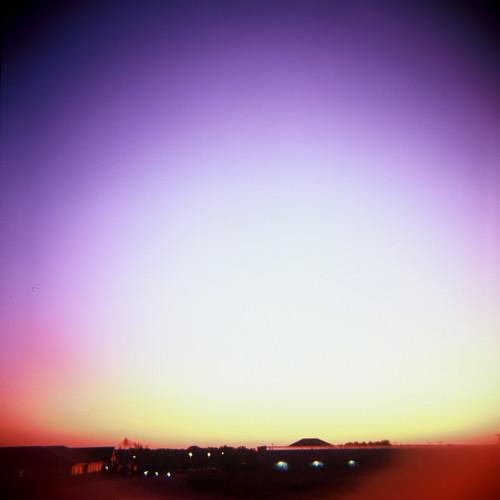 camera eve longexposure blue sunset red orange color 120 film yellow analog lens evening illinois rainbow lomo lomography midwest colorful soft fuji purple natural dusk violet plastic velvia diana fujifilm medium format 10s cheap vignette prarie mahomet tempecamera kevindooley