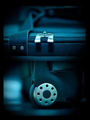 Going Away (michaeljosh) Tags: wheel diptych roadtrip luggage zipper goingaway calvinklein nikkor50mmf14d project365 nikond90 goingonatrip michaeljosh dontworryillbearound prayforguidance prayforsafety prayforagreattime prayforemotionstosettle