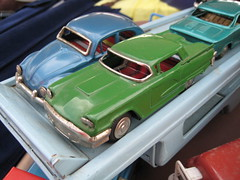 Tin Volkswagen and Thunderbird