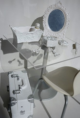 White Elegance (karenisme08) Tags: white table mirror cabinet secret makeup rement cosmetic annasui snowprincess cafechair