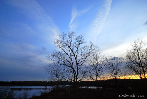 Evening Sky at Clayville Pond