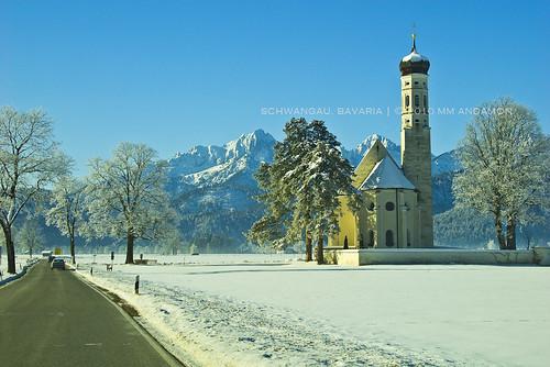 St Coloman Kirche in Schwangau, Bavaria