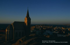 Lderitz, Church at sunset (blauepics) Tags: africa houses nature architecture germany landscape deutschland bay sand sonnenuntergang desert natur german architektur afrika landschaft namibia gebude wste deutsch deutsche huser abendstimmung luderitz lderitzbucht visipix lderitzbay
