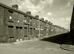cast a giant shadow (Broady - Salford art and photography) Tags: street houses bw manchester terraced broady openshaw