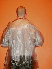 S5003471 (train014) Tags: rain pluie plastic clear hood transparent raincoat rainwear pvc rainjacket regenjacke imperméable jeantex regenmantel softpvc