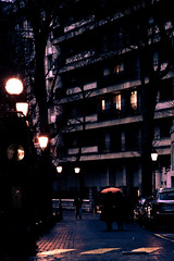 Spring umbrella (photopholi) Tags: street paris building rain umbrella spring streetlamp pluie rue printemps passerby immeuble parapluie passant rverbre nikond700