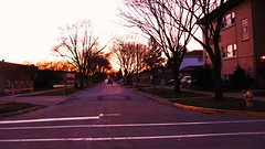 Sunset in Harwood Heights Ilinois. March 2010.