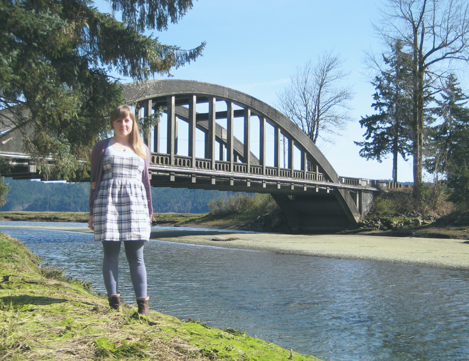 bridge and a new dress