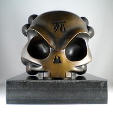 Heavy Metal - front (huckgee) Tags: bronze huck gee skullhead huckgee
