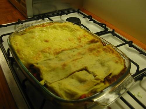 Semi-dairyfree lasagne