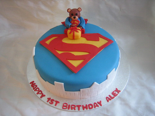 Superman 1st Birthday Cake