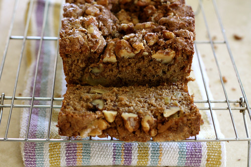 Apple Walnut Flax Seed Bread