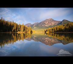 Jasper, Canada (Jesse Estes) Tags: canada reflection sunrise jasper pyramidlake unature jesseestesphotography