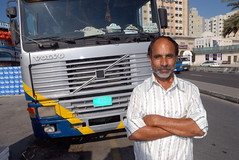 TRUCKING IN DUBAI (Claude  BARUTEL) Tags: port volvo dubai harbour united transport emirates arab sharjah trucking
