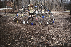 (yyellowbird) Tags: girl playground dome cari