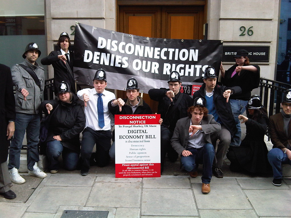 Photo of DEB protest outside UK Music by William Marriage