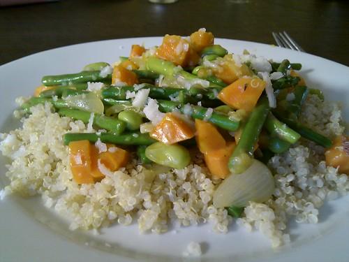 Veggie Saute over Quinoa