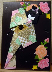 ATC210 - Queen of the night (tengds) Tags: roses black atc night stars gold stickers kimono papercraft japanesepaper washi ningyo handmadedoll handmadecard chiyogami yuzenwashi japanesepaperdoll nailsticker washidoll origamidoll reusedpaper crystalpaper tengds