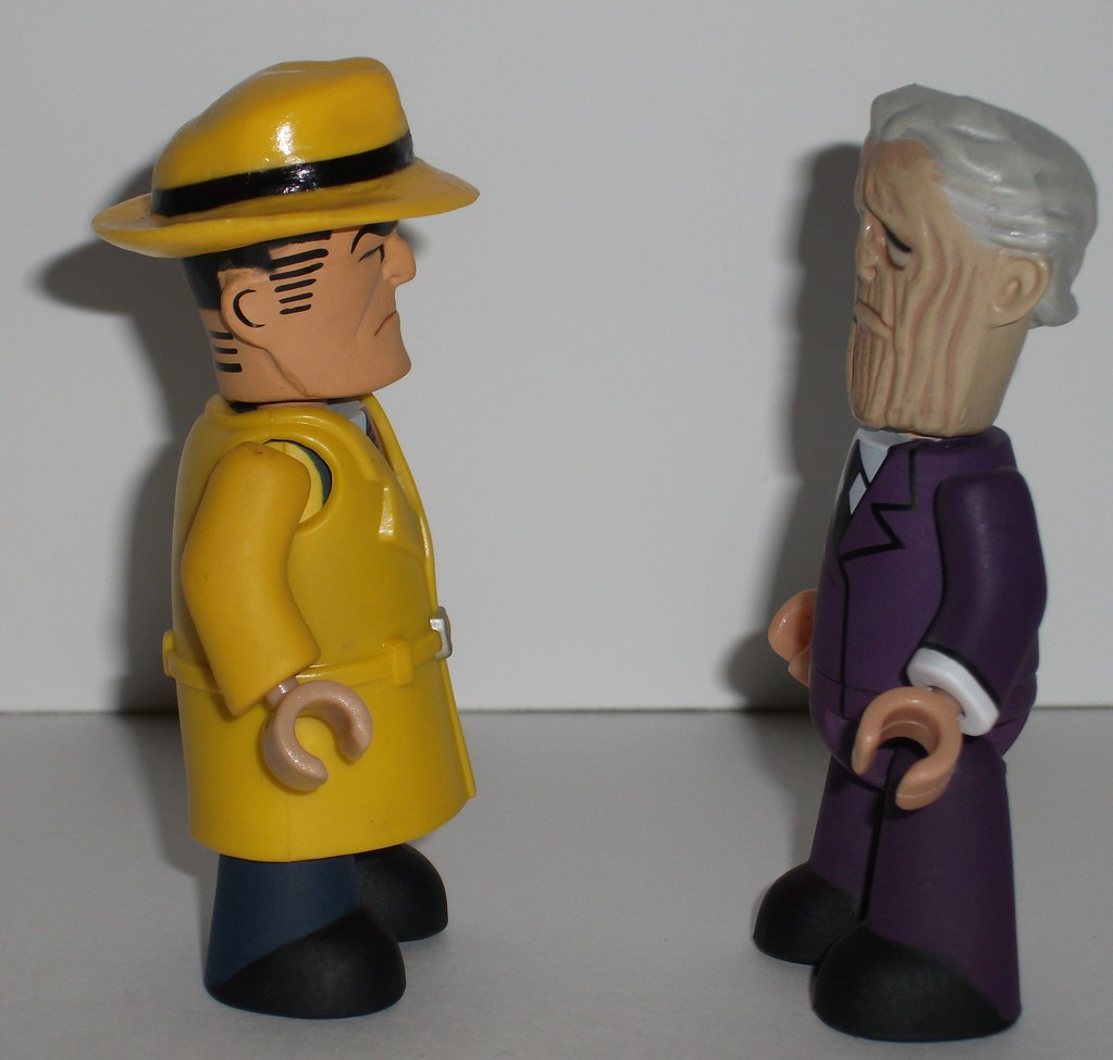 From Behind Dick tracy figure