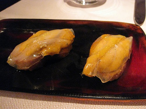 sea urchin with lardo