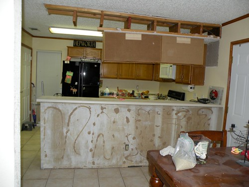Elegant Um okay Now what This is when it began to get tricky Do you realize how much two cabinets and about xs worth of wood weighs