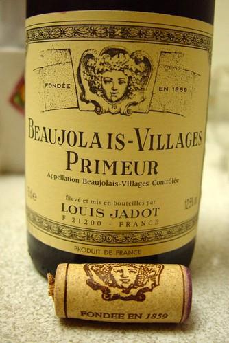 薄酒萊新酒 Beaujolais Nouveau:Louis Jadot Village Primeur 2005 DSC06359