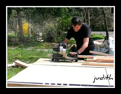 Foreplay (judecat (mostly hibernating))) Tags: larry carpentry pottingshed powersaw