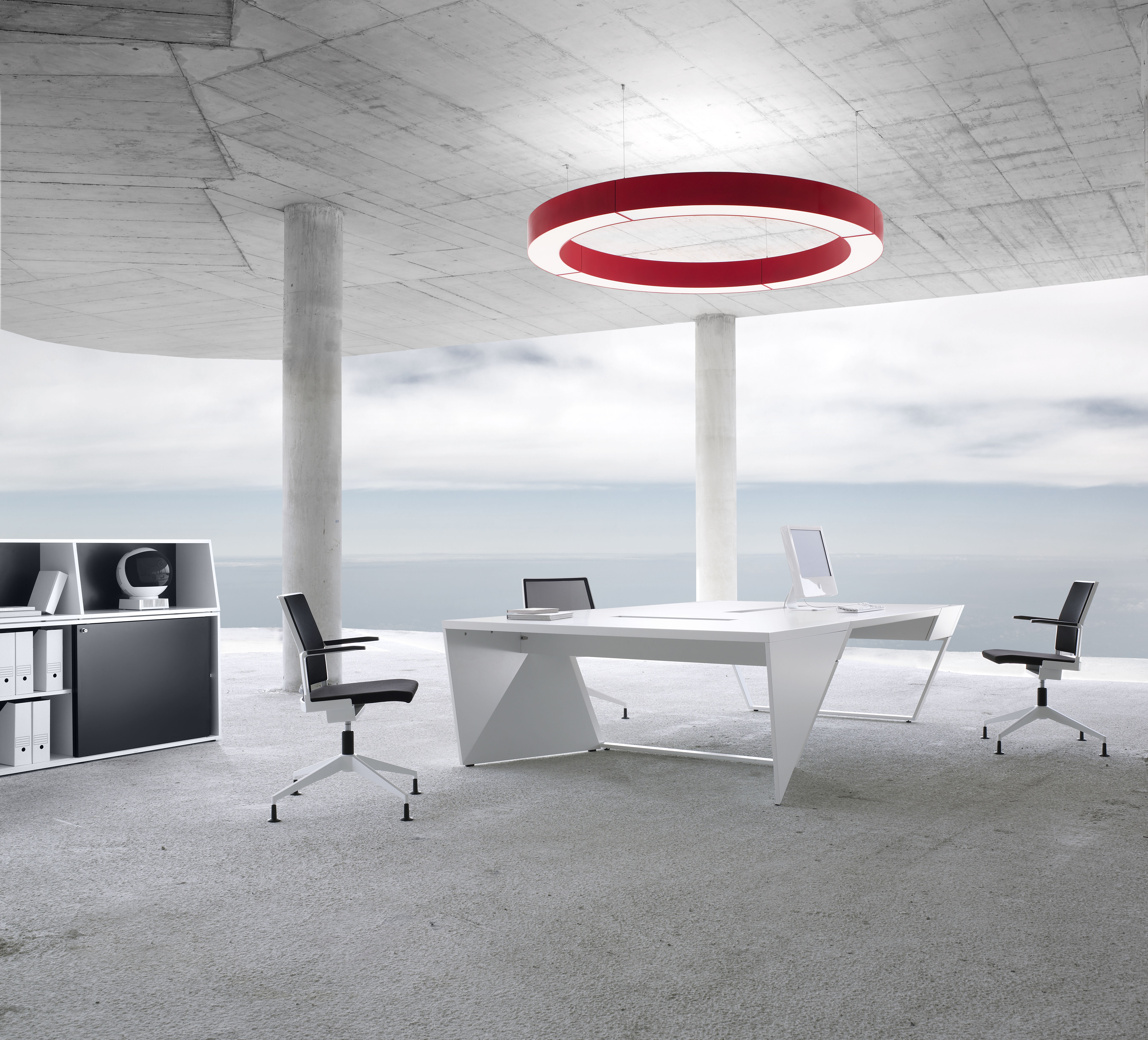 halo for office and object: idee.design.licht. presents ring