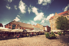 Malmo - Lilli Torg (manlio_k) Tags: sky clouds vintage sweden pavement cobblestone hdr malmo lillitorg