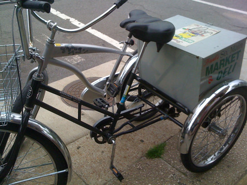 Frank's delivery bicycle