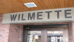 The Wilmette Illinois Metra commuter rail station. Early April 2010.