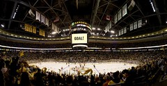 Garden Goal Pano (falconn67) Tags: ice hockey sport boston garden nhl banner panoramic arena rink 5d bruins banners fleetcenter celtics champions tdgarden