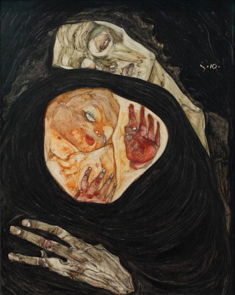 Egon Schiele, Tote Mutter I [Dead Mother I], 1910