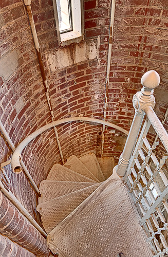 Compton Hill Water Tower, in Saint Louis, Missouri, USA - small interior stairs