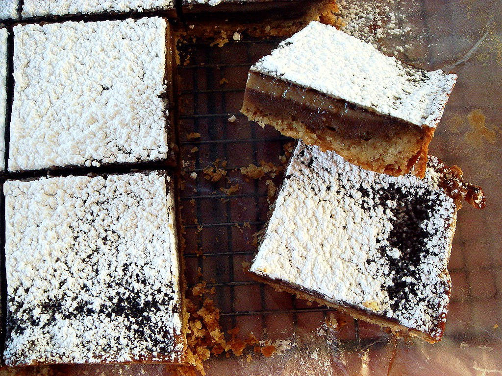 coffee bars with espresso shortbread crust