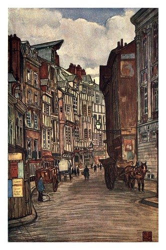 006- Casas antiguas de Rouen-Normandy-1905- Ilustrado por Nico Jugman