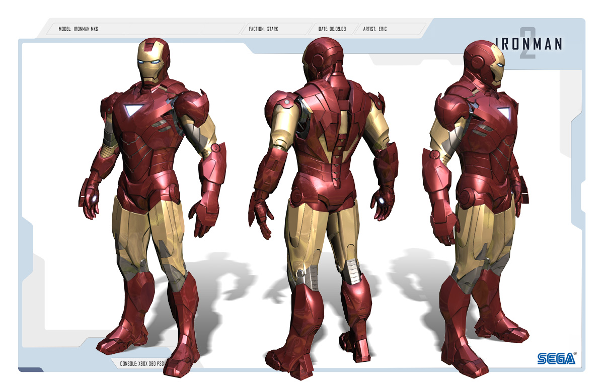 Iron Man 2 Game MK6 armadura