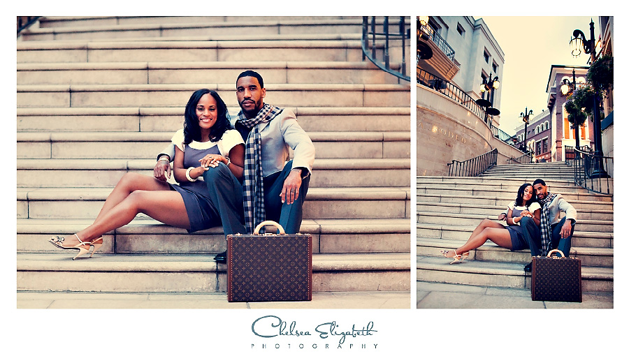 Via Rodeo stairs engagement session