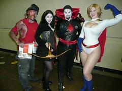 Motley Crew (BelleChere) Tags: costume orlando cosplay vampire megacon powergirl mistersinister mcdonaldworker