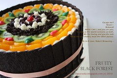 Fruity Black Forest by Dapur Solia (Dapur Solia) Tags: blackforest blackforrest fruitycake dapursolia orange kiwi darkcherry birthdaycake chocolate arabesque