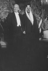 Saud Ibn Abdul Aziz [RF: Saudi Arabia RF];Dwight D. Eisenhower (K_Saud) Tags: party standing dc washington king unitedstates president saudi arabia abdul dwight rf aziz eisenhower ibn saud timeincown 937359