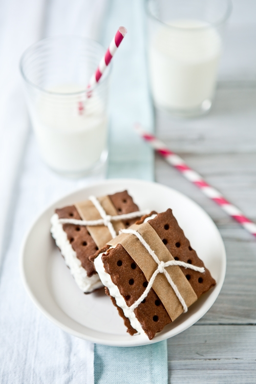 Vanilla Ice Cream Sandwiches