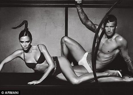 Emporio Armani Fall Winter 2009-10 Victoria and David Beckham Underwear Black White by olivarose