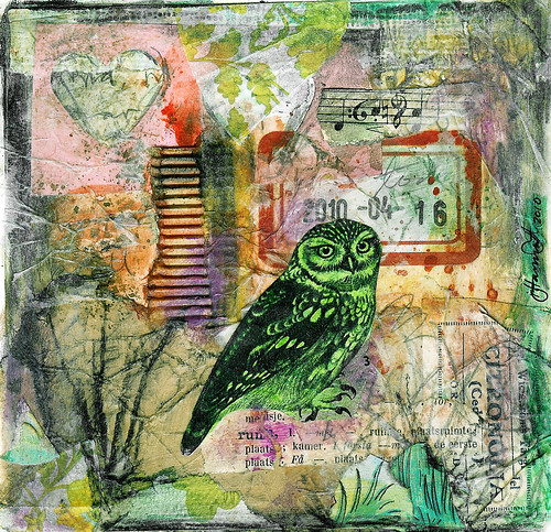 Owl Collages and Matting