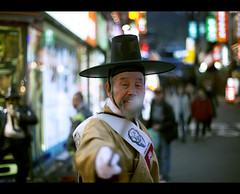 Don't steal my soul! (thirdeyep(!)) Tags: street night canon 50mm oldman korea seoul stick mkii myungdong