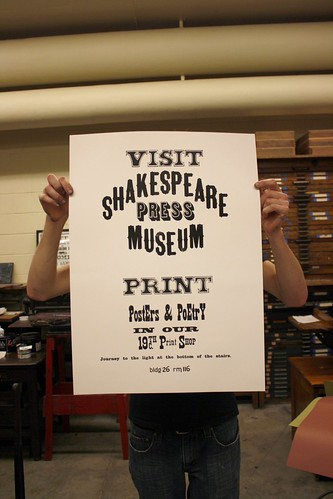 poster, printed