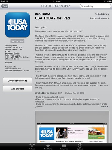 download USA TODAY for iPad