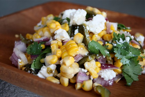 Fresh (or frozen) Corn Salad
