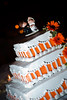 orange wedding cake photo